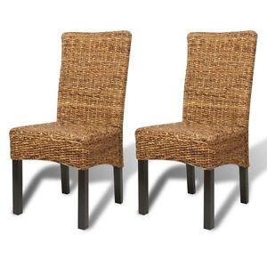 Image Is Loading VidaXL 2x Dining Chair W Backrest Solid Mango