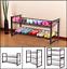 2/3/4 tier iron oblique plane shoe shelf rack storage organizer home furniture