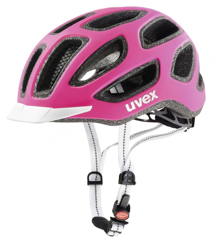 Uvex City e Fahrradhelm - Rosa Weiß mat