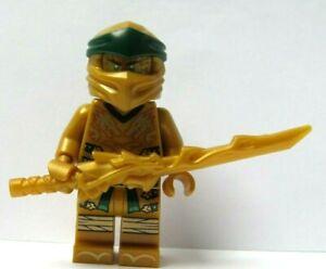 LEGO NEW WHITE NINJAGO  NINJA MINIFIGURE TORSO WITH GOLD DRAGON