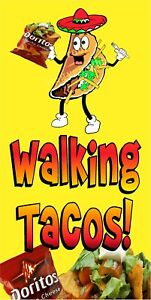 WALKING-TACOS-TACO-IN-A-BAG-VINYL-VERT-BANNERS-CHOOSE-A-SIZE-CARNIVAL-DORITO