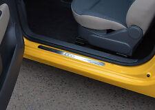 FIAT 500 Chrome DOOR SILL PLATE copre SCUFF Protettori Trim Set Acciaio