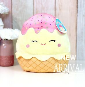 "*SALE* KellyToy Squishmallow 12"" Shannon the Ice Cream Cone Sundae NEW Plush Toy"