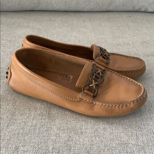 TODS Tan Leather Loafers Size 6