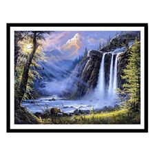 """Diamond Painting """"Waterfall Bear landscape """" Embroidery Full Square oil painting"""