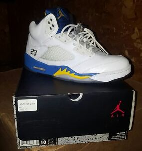 huge selection of 726bf 09c85 Image is loading Excellent-Condition-100-Authentic-Nike-Air-Jordan-5-