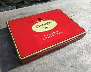 Collectable-c1930-039-s-Vintage-Tobacco-Tin-Craven-034-A-034-Virginia-London