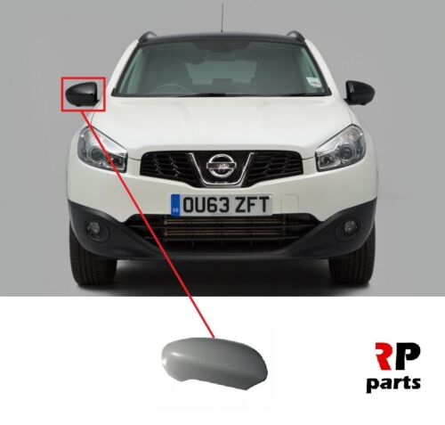 FOR NISSAN QASHQAI 2007-2014 NEW WING MIRROR COVER CAP PRIMED RIGHT O//S