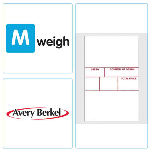 Format 3 White Avery Berkel 49mm x 90mm  Thermal Scale Label 5,220 Labels