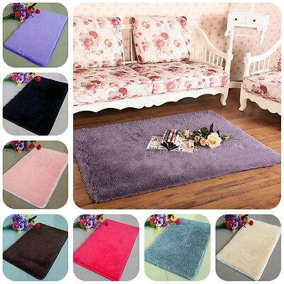 New Bathroom Foam Shaggy Rug Anti Slip Bath Bedroom Mat Shower Carpets 80x50cm
