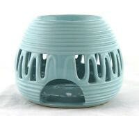 Blue Ceramic Round Oil Warmer Earthbound Trading Tealight Candle Tart Modern