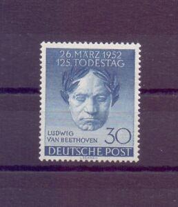 Berlin-1952-Beethoven-MiNr-87-postfrisch-Michel-45-00-356