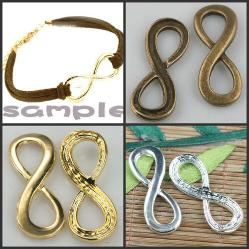 alloy Fashion lucky Figure Eight charms use for making cord bracelet EF0366