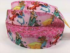"1 Yard 7/8"" Disney's Cinderella Grosgrain Ribbon Hair Bows Crafts Lisa"