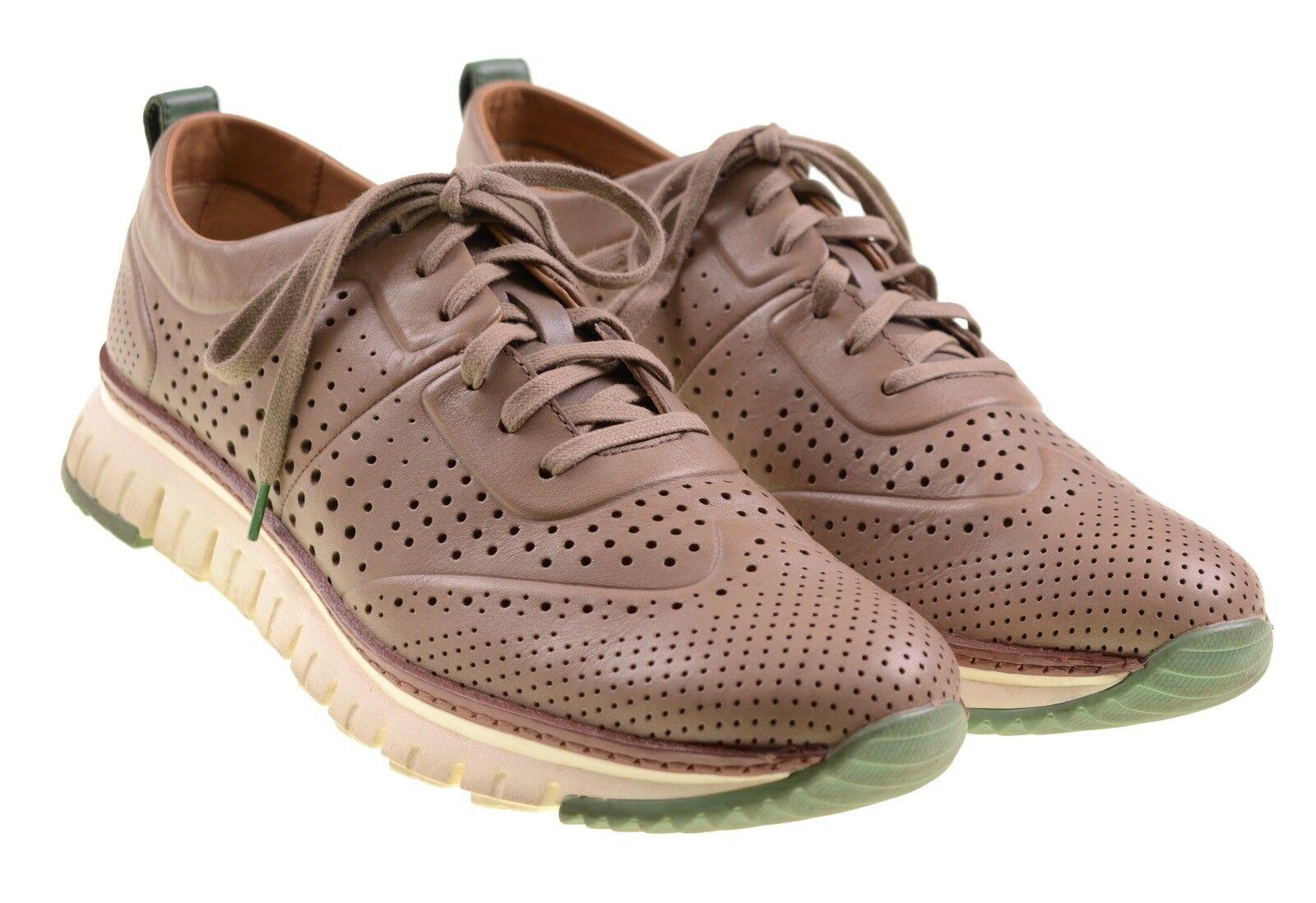 Cole Haan zerogrand Grand os Metálico Bronceado Cuero Perforado Tenis Zapatos 11