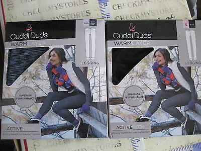 LEGGING  CHOSE CLR/&SIZES NWT Cuddl Duds Women/'s Warm Layer  ACTIVE TECH PERFOR