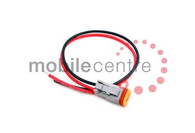 Conector Deutsch DT062S Enchufe y plomo-Pre Con Cable Fly Lead DT06-2S 2 Pin