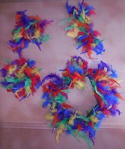 NWT-Feather-tutu-Parrot-Pkt-Headpiece-Wristlets-Girls-Sequin-Beak-costume-item