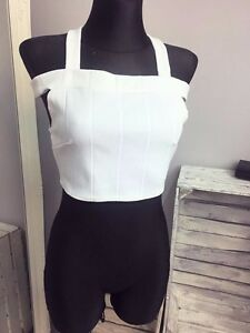 604aa3d4fbfb1 Daisy Street Off Shoulder Halter Neck Crop Top In Rib ASOS (AS-35 26 ...