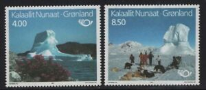 Greenland 1991 Tourism Icebergs set Sc# 240-41 NH