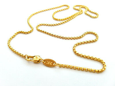 Source 18 inch 18ct Gold Curb Chain Necklace 1.5mm thick