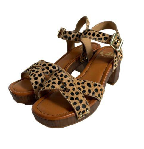 Gianni Bini Womens Sandals Size 6.5 M Cheetah Anim