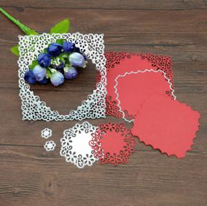 Lace Flower Metal Cutting Die Stencil Card Paper Album Decor Embossing Craft DIY
