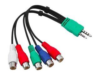 Panasonic Tx L55et5b Led Tv Audio Video Av Component Adapter Cable
