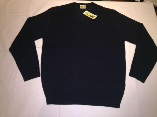 Navy size XL. New Mens RTY Soft feel Acrylic V Neck Sweater