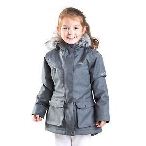 Trespass-Vardia-Girls-Waterproof-Jacket-School-Windproof-Rain-Coat-with-Hood