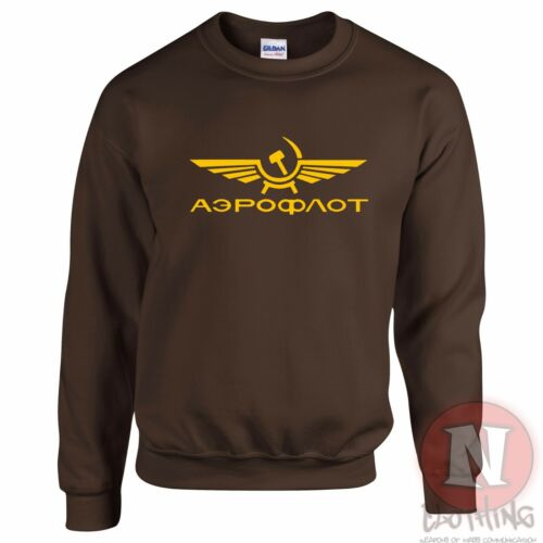 Aeroflot airline sweatshirt USSR retro communist iron curtain cold war