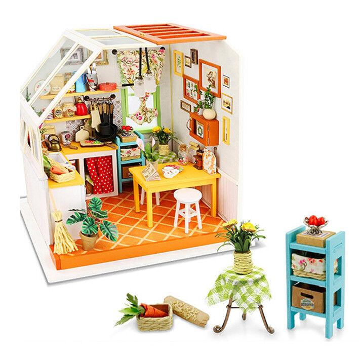 [Adico] Miniatura Bricolaje Casa de firma-Cocina-Kidult Hobby Juguete recoger