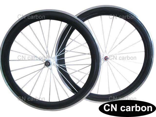 Aluminium brake surface 60mm Clincher carbon  bike wheels  for sale