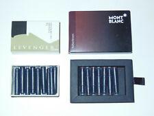 Montblanc Toffee Brown Fountain Pen Ink Cartridges 7pc Levenger Raven Black 9pc