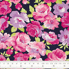 Cotton Print Fabric FQ Rose Flowers Shabby Retro Vintage Chic Quilt Craft VK103