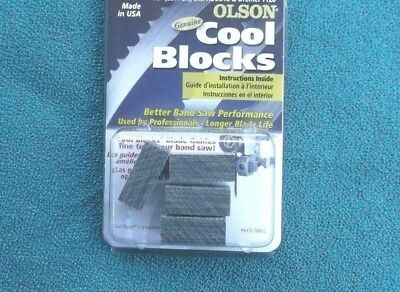 "GENUINE OLSON COOL BLOCKS FOR DELTA 28-540  3 WHEEL 16/"" BAND SAW"