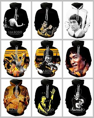 New Fashion Women//Men Celebrity Bruce Lee 3D Print Casual Hoodie Sweatshirt K293