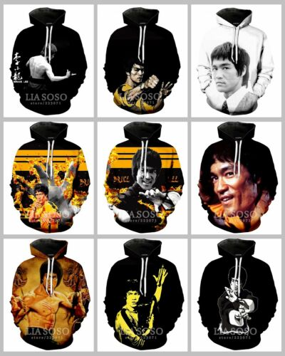 New Fashion Women//Men Celebrity Bruce Lee 3D Print Casual Hoodie Sweatshirt K293