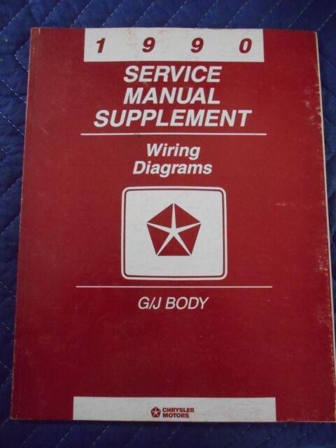 1990 Chrysler Service Manual Supplement Wiring Diagrams G