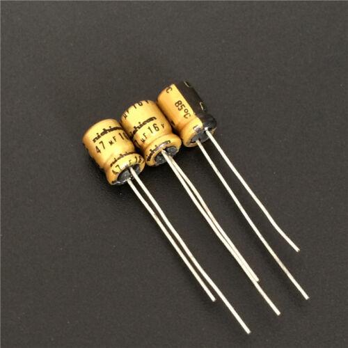 10pcs 16V47uf 16V Nichicon SW acoustic series  Audio capacitor 5x7mm