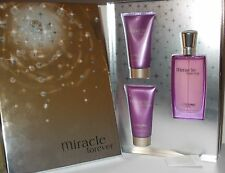 MIRACLE FOREVER LANCOME GIFT SET  1.7oz / 50 ML EDP+Shower Gel+B. Lotion, RARE!