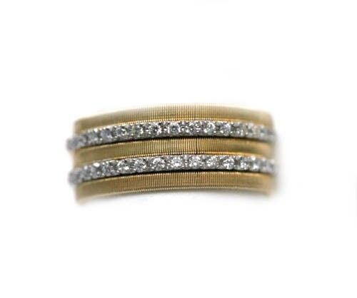 15ce5eeb9 Marco Bicego 18k Yellow Gold Goa Seven Row Ring With Diamonds for sale  online   eBay