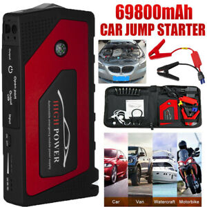 Automotive Tools & Supplies 69800mAh 12V Car Jump Starter Portable USB Power Bank Battery Booster Clamp 600A