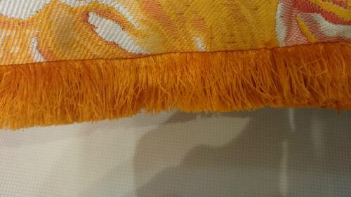 Fringe-recorte para los bordes de Cojines etc 38 mm naranja 2 metros