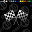 Bandera De Carreras Checker Vinilo Calcomanía//Pegatina-Moto Coche Racing 2222-0119