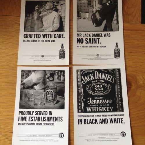 SET OF 4 JACK DANIELS//DANIEL/'S WHISKEY ADVERTISING SPIRITS POSTCARDS
