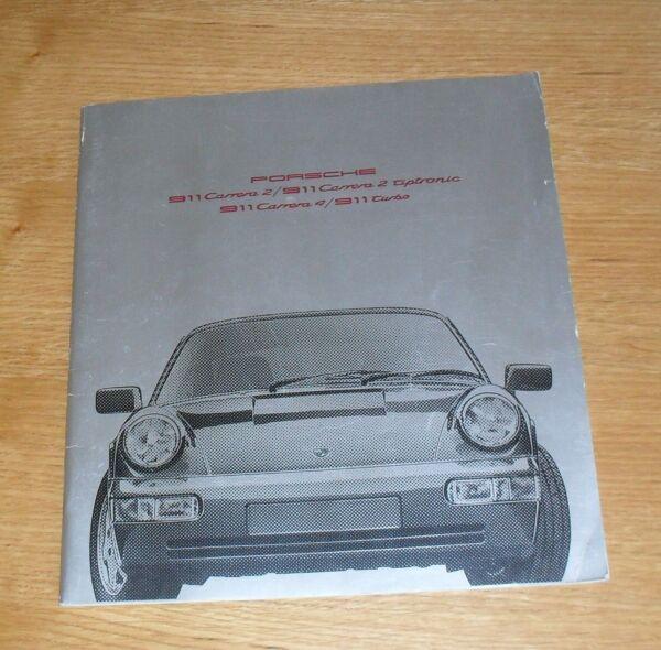 ** Porsche 911 Carrera 2 & Carrera 4 Brochure 1990-1991 Mercato Britannico ** Garanzia Al 100%