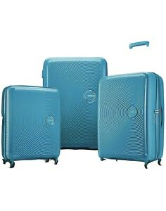 American Tourister Curio 3-piece Hardside Spinner Luggage Set Blue