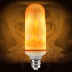 Led Flame Effect.Details About Led Flame Effect Fire Light Bulb E27 Flickering Flame Lamp Simulated Decorative