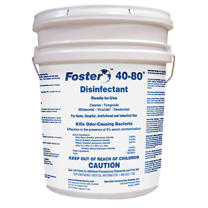 Foster, Antimicrobial, First Defense 40-80 Disinfectant, 5 Gallons